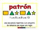 pattern/patron geom 2-way blue/rojo
