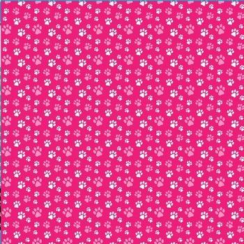 dog paw print pattern digital paper in 48 colors - printable .jpg background