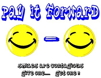 pay it forward smile poster
