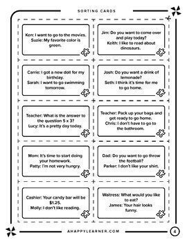 Speech Therapy Social Skills for Older Students - Staying on Topic
