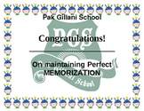 perfect memorization award