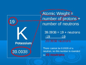 periodic table, elements, atomic number, mass etc.. PowerPoint