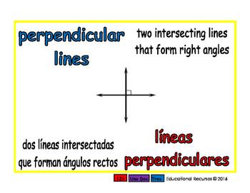 perpendicular lines/lineas perpendiculares geom 1-way blue/rojo