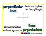 perpendicular lines/lineas perpendiculares geom 1-way blue/verde