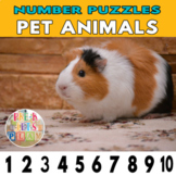 Number Strip Puzzles for Pet Animals | Number Order Sequen