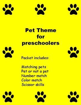 pet theme preschool pack