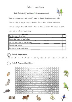 pets reading and crosswords