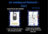 'ph' PHONIC flashcards and chart - 7 sounding out flashcards + chart PHONICS d