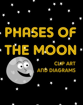 Phases of the Moon clip art pictures