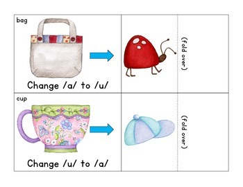 phoneme manipulation lift-the-flap cards: initial, medial and final sounds