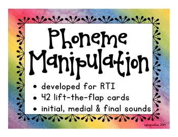 phoneme manipulation lift-the-flap cards: initial, medial