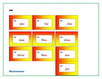 phonic sound flash cards