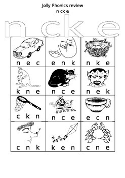 phonics review sheet