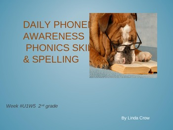 phonics, spelling, word parts, Unit 1 Week 5