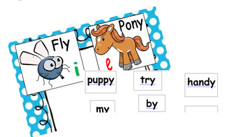 vowel sounds of y (i,e) - phonics