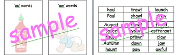 Phonics screen support. word /family sorting  covers 20 sheets Year 1 support