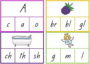 phonological awareness peg cards bundle