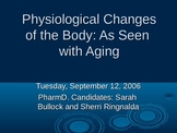 physiological changes of the body with aging