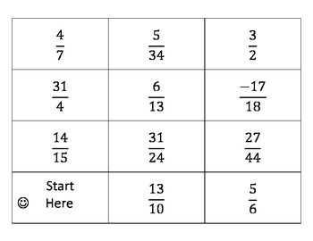 pick IT-flip IT-solve IT TABLE-TOP EDITION(simple fraction operations)