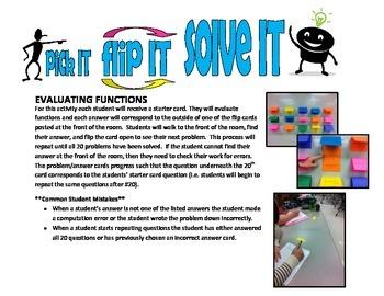 pick IT-flip IT-solve IT (evaluating functions)