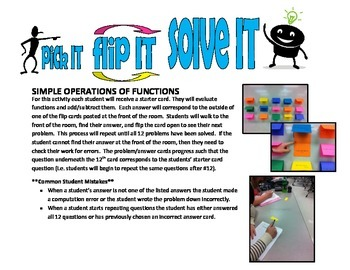 pick IT-flip IT-solve IT (simple operations of functions)