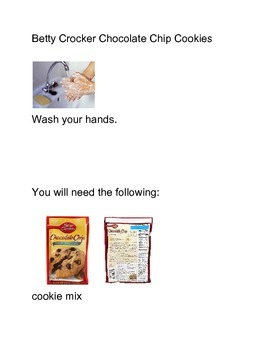picture recipe for chocolate chip cookie mix