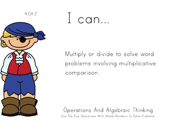 pirate Theme 4th Fourth Common Core Posters Math Mathemati