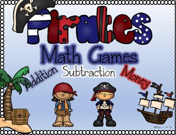 pirate math centers addition, subtraction, money