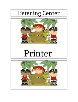 pirate themed center signs