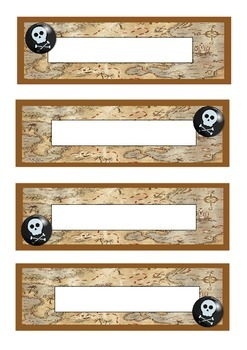 pirate themed printable labels