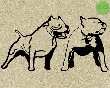 pitbull SVG cut files, DXF, vector EPS cutting file instant download for cricut