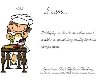 pizza Theme 4th Fourth Common Core Posters Math Mathematics Posters