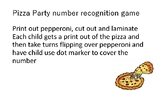 pizza party number recognition