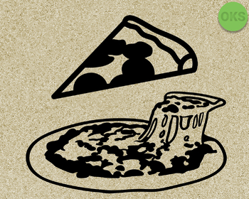 pizza slice SVG cut files, DXF, vector EPS cutting file instant download
