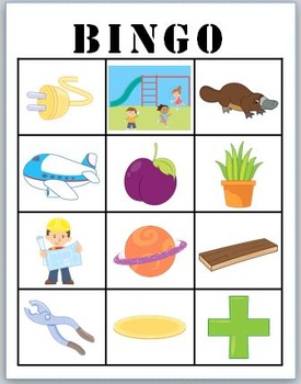 pl- blends BINGO + 12 bonus pages of pl- vocabulary words