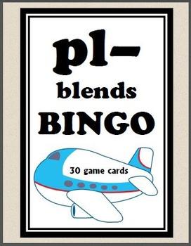 pl- blends BINGO + 12 bonus pages of pl- vocabulary words