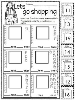 place value and ten frame