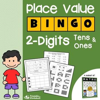 Place Value Bingo 2 Digits, Place Value Bingo Base Ten Blocks Tens and Ones