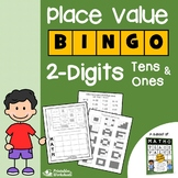 2 Digit Place Value Game, Place Value Bingo 2nd Grade Expanded Notation Activity