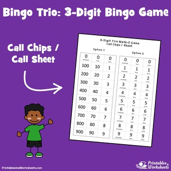 Place Value Bingo 3 Digit Bingo, Place Value Bingo Hundreds, Tens and Ones