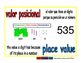 place value/valor posicional prim 1-way blue/rojo