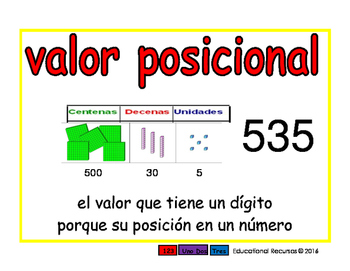 place value/valor posicional prim 2-way blue/rojo