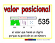 place value/valor posicional prim 2-way blue/rojo