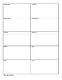 planning sheets/ make your own planbook