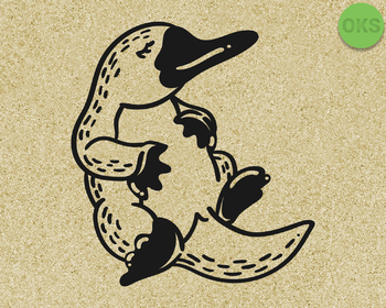 platypus SVG cut files, DXF, vector EPS cutting file instant download for cricut