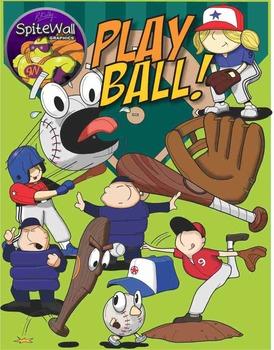 Play Ball...Baseball Themed Clipart for Baseball themed ac