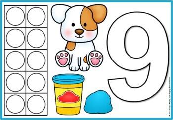 playdoh mats-Dog theme