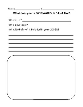 playground design worksheet