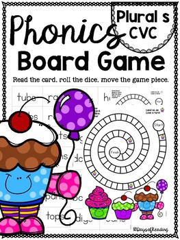 plural s CVC PHONICS BOARD Game