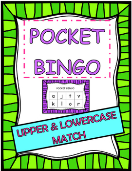 pocket BINGO upper and lowercase match